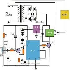 hobby in electronics remote control regulated ceiling fan circuit