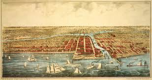 Chicago On Map Lithograph Of Great Lakes And Chicago U2013 On Every Measure Democrats