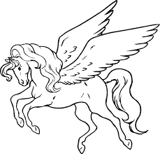 unicorn coloring pages for kids pegasus coloring pages coolage net