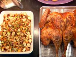 butterflied brined roasted turkey with roasted root vegetable