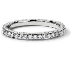 white gold eternity ring trio micropavé diamond eternity ring in 14k white gold 4 5 ct tw