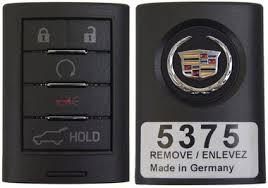 cadillac srx key fob cadillac srx 5 button fob fobik remote keyless key 2010 2011 2012
