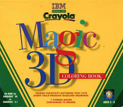 109 9699 crayola magic 3d coloring book video game