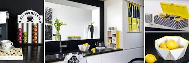 cuisine noir et jaune déco cuisine graphique jaune et noir boutique en ligne custodeco