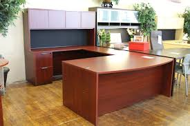u shaped desks warren series american cherry new u shaped laminate executive desk