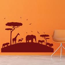 boys room wall stickers african safari animals savannah rest of the world wall stickers home art decals