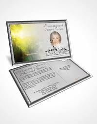 bifold order of service obituary template brochure forest river