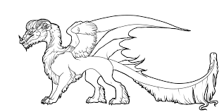 arctic dragon color lineart by javen on deviantart