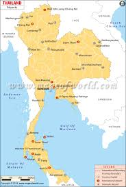 Airport Map Airports In Thailand Thailand Airports Map