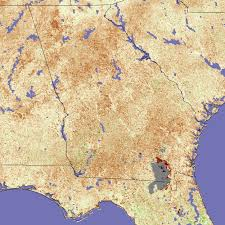 Southeastern United States Map by Drought In Southeastern United States Image Of The Day