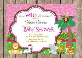 jungle safari baby shower invitations wblqual