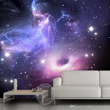 cheap galaxy wallpaper for bedroom walls free shipping galaxy purple galaxy wallpaper custom 3d wallpaper the starry sky wall mural children bedroom living room hotel space interior decoration mural