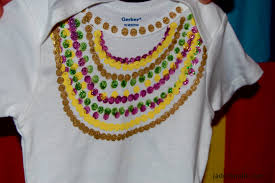 mardi gras shirts new orleans diy mardi gras bead onesie jaderbomb