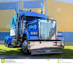 antique kenworth trucks blue kenworth show truck tractor editorial stock photo image