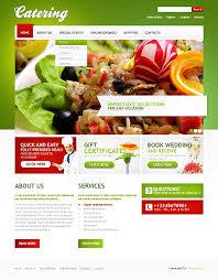 catering impressive e commerce web design template