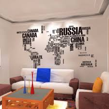 Country Home Decor Canada Aliexpress Com Buy Black World Map Country Name Diy Wall Sticker