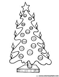 candle lit christmas tree coloring page create a printout or