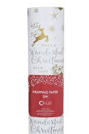 vue luxe 5m have a wonderful christmas wrapping paper myer online