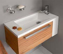 Bathroom Is Partially Under The Stairs A Small Sink For A Small - Bathroom sinks and vanities for small spaces