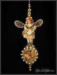 Antique Victorian Christmas Ornaments - antique victorian tree topper angels w christmas tree all antique