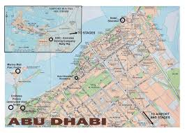 map of abu dabi large road map of central part of abu dhabi city vidiani