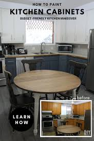 painting kitchen cabinets tutorial how to paint kitchen cabinets budget friendly kitchen makeover