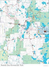 Chippewa National Forest Map Minnesota Snowmobile Vacation And Trail Reports Bemidji Mn
