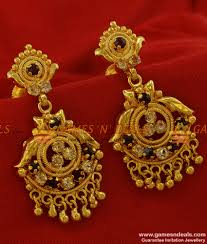 traditional design south indian earring gold design choice image jewelry design