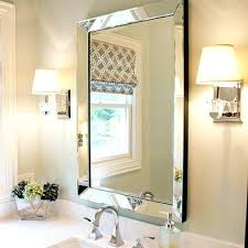 Beveled Bathroom Mirrors Beveled Bathroom Mirror Lowes Powder Room Bevelled Marble Sconces
