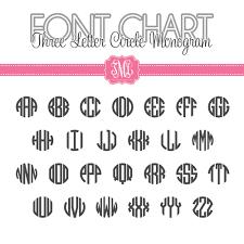 three letter monogram monogram font charts