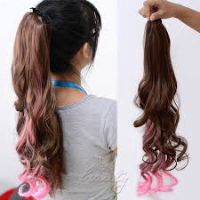 ombre clip in hair extensions ombre clip in ponytail pony hair extension wrap on hair