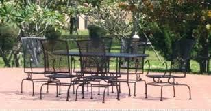 Iron Patio Table Set Home Design Decorative Oval Wrought Iron Patio Table Furniture