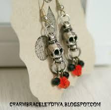 halloween earrings our hopeful home vintage halloween silver skull earrings