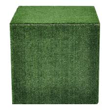 Ottoman Cubes Cube Ottoman Synthetic Grass Epic Empire Furniture Hire