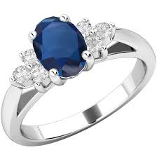 all sapphire rings images Sapphire and diamond ring for women in 18ct white gold with an png