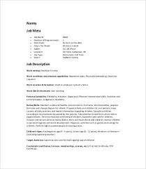 nanny job description personal assistant resume sample