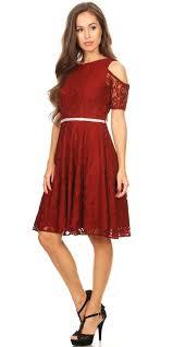 burgundy dress for wedding guest lace a line wedding guest dress cold shoulder sleeves
