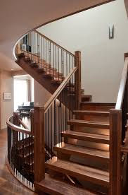 Oak Stair Banister Mission Style Staircase Staircase Craftsman With Staircase