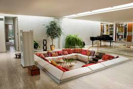 Narrow Living Room Design Ideas Furnishing Long Narrow Living Room Round Wall Mirror With Plywood