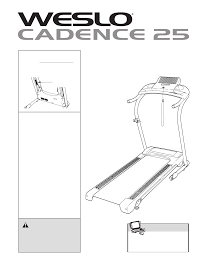 weslo treadmill cadence 25 user guide manualsonline com