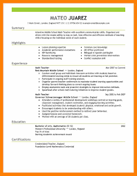 Math Teacher Resume Sample by Home Economics Teacher Resume Example Elementary Bilingual