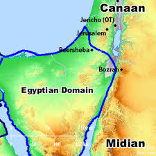 bible map midian
