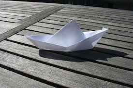 How To Make Boat From Paper - make a floating boat out of paper 4 steps