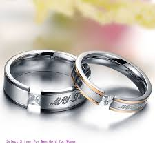 couple promise rings images Wish fashion gold couple stainless steel comfort fit wedding jpg