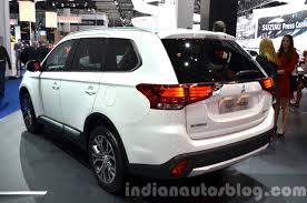 outlander mitsubishi 2016 mitsubishi outlander rear three quarters at 2015 frankfurt
