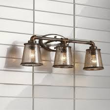 Lighting Bathroom Fixtures Fillmore 23 1 4 Wide Industrial Rust 3 Light Bath Fixture