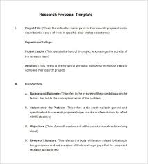 research proposal templates u2013 17 free samples examples format