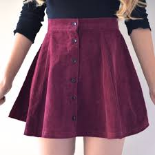 lisa button skirt maroon clothes models and dream closets