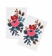 Temporary Rosa Temporary Tattoos By Rifle Paper Co Made In Usa