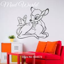 compare prices on wall murals removable online shopping buy low mad world bambi silhouette kids nursery wall art sticker decal home diy decoration wall mural